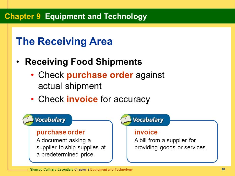 The Receiving Area Receiving Food Shipments