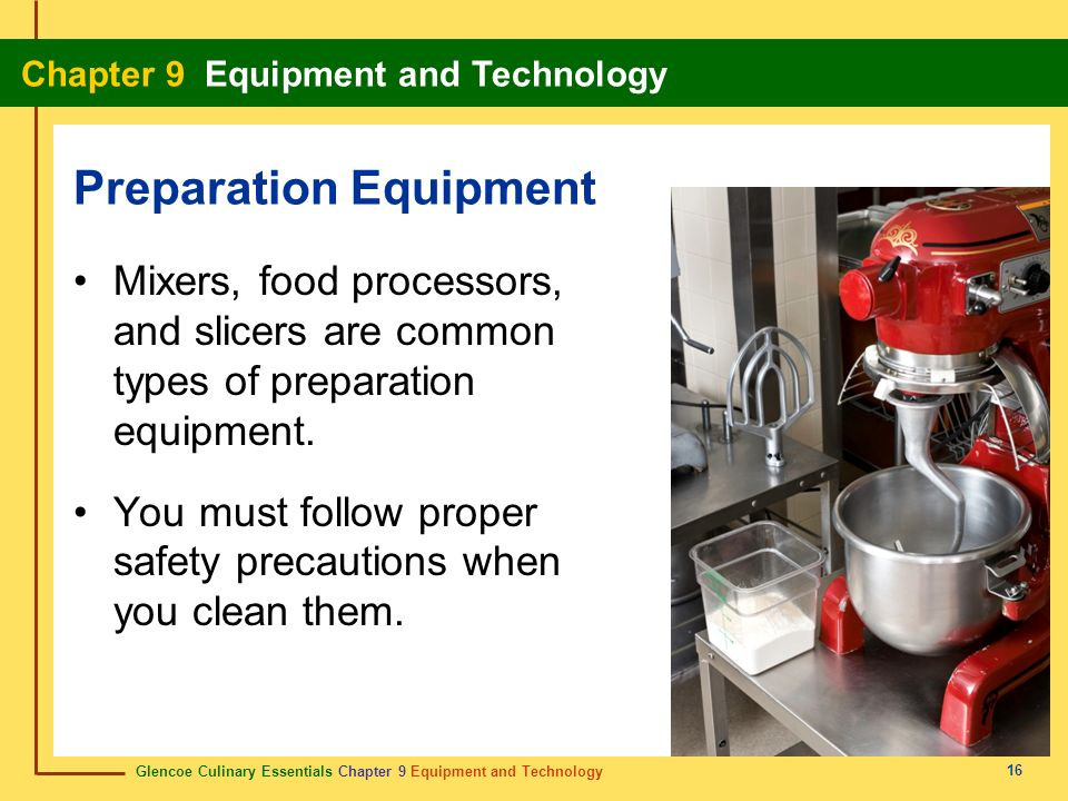 Preparation Equipment