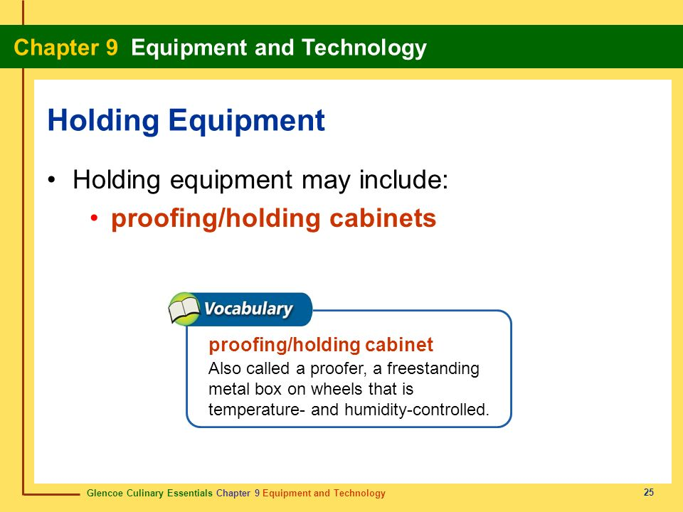 Holding Equipment Holding equipment may include:
