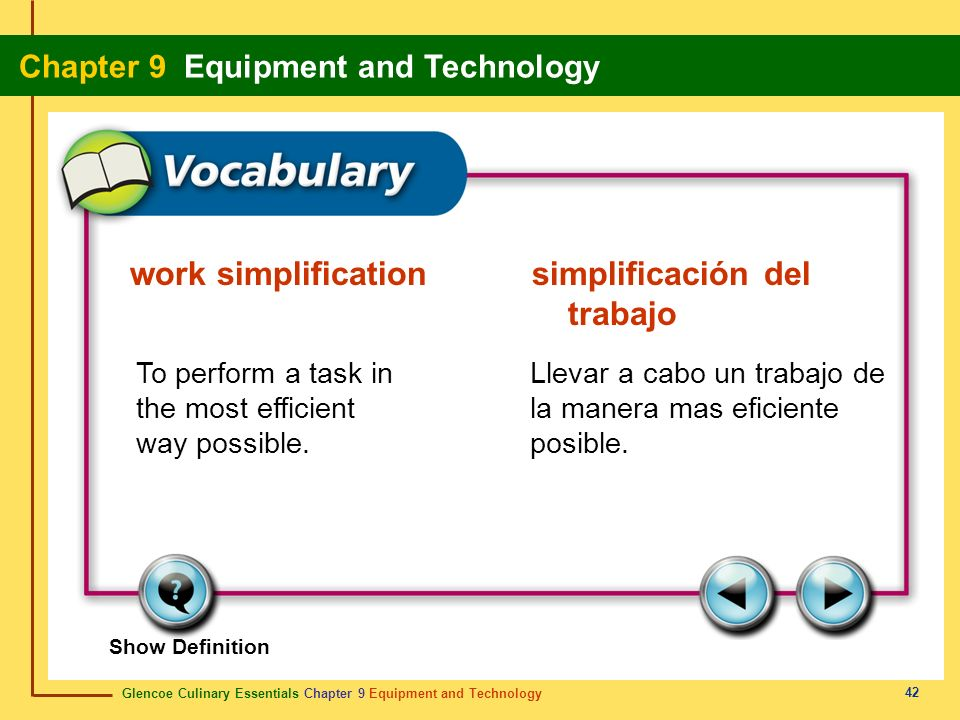 work simplification simplificación del trabajo