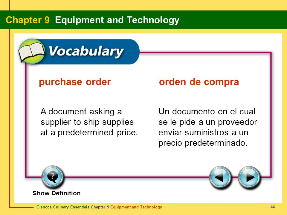purchase order orden de compra