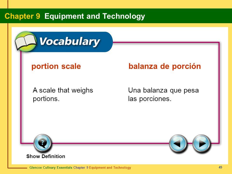 portion scale balanza de porción