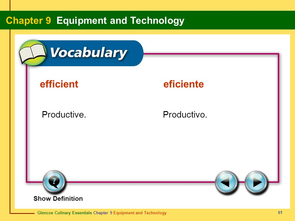 efficient eficiente Productive. Productivo.