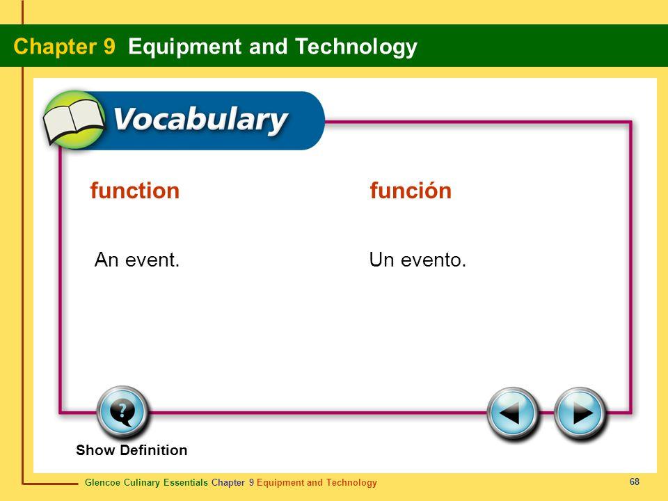 function función An event. Un evento.
