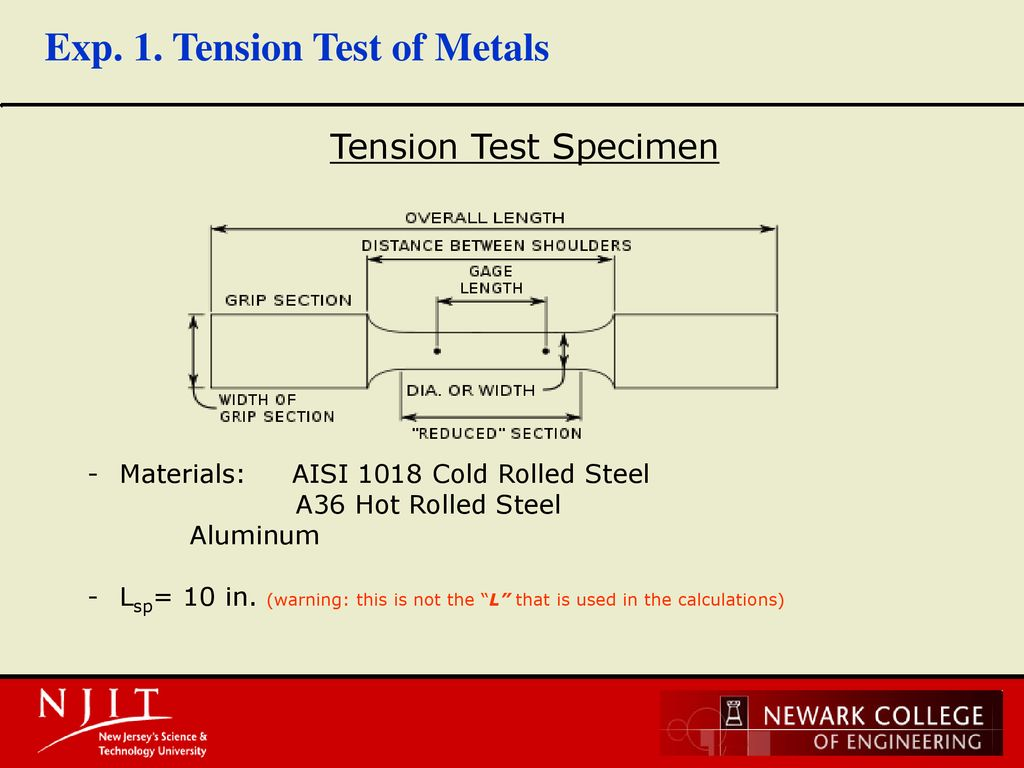 Experiment #1 Tension Test - ppt download