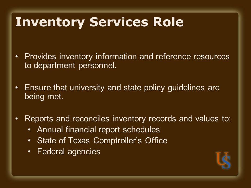 Inventory Services Role