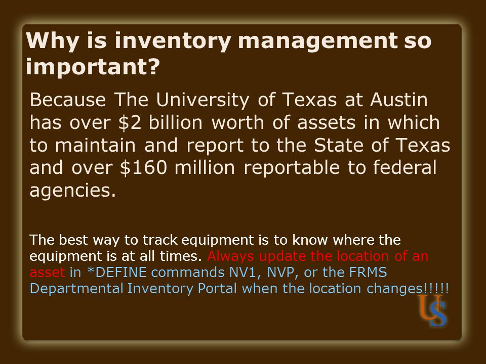Why is inventory management so important