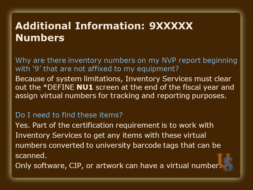 Additional Information: 9XXXXX Numbers