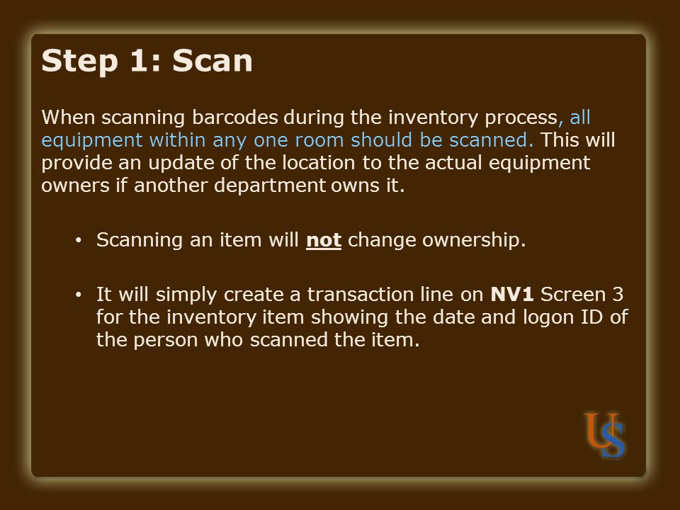 Step 1: Scan