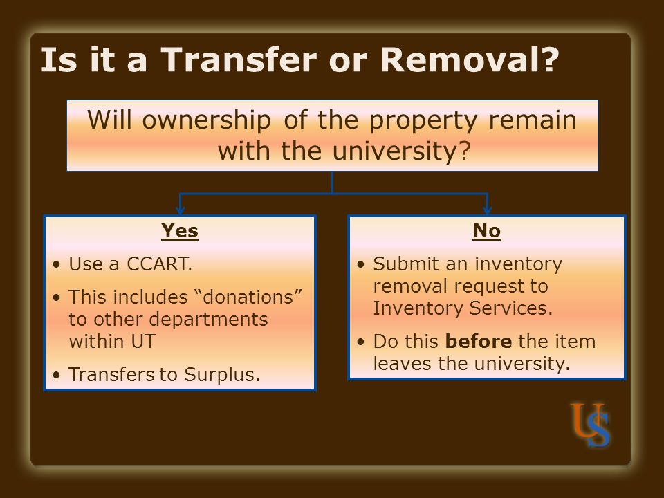 Is it a Transfer or Removal