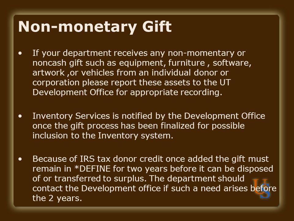 Non-monetary Gift