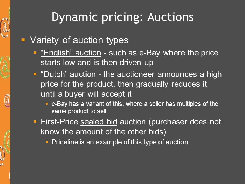 Dynamic pricing: Auctions