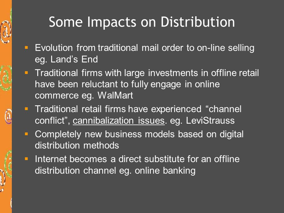 Some Impacts on Distribution