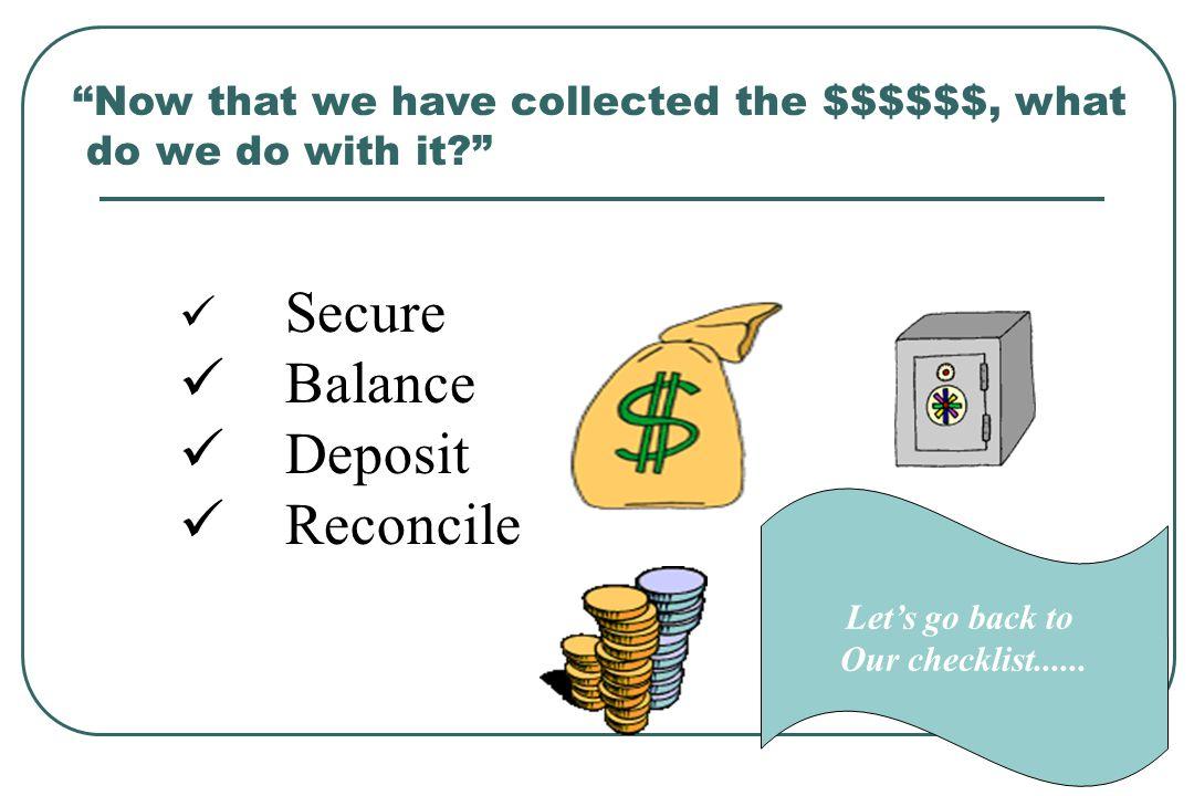 Balance Deposit Reconcile Secure