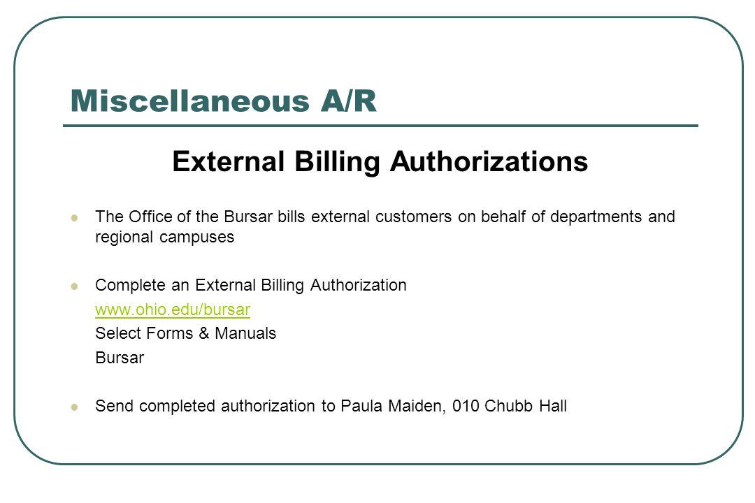 External Billing Authorizations