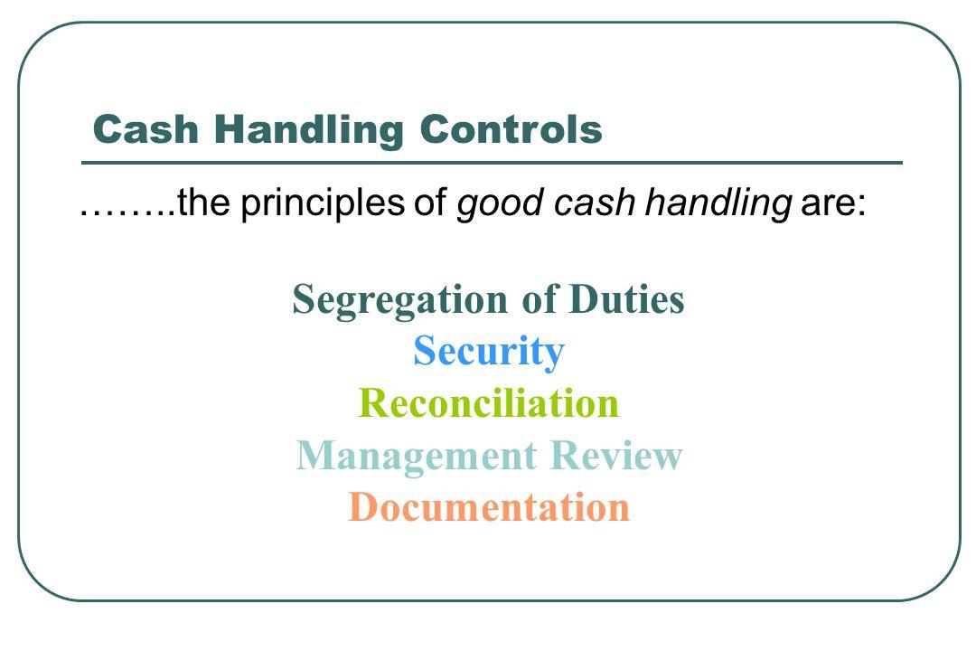 Segregation of Duties Security Reconciliation Management Review