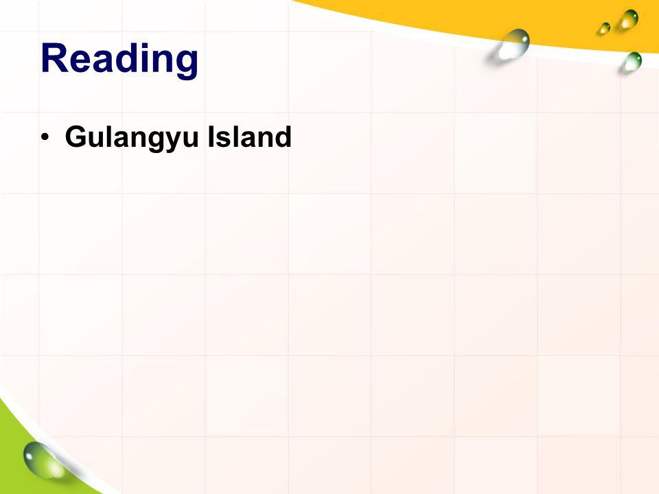 Reading Gulangyu Island