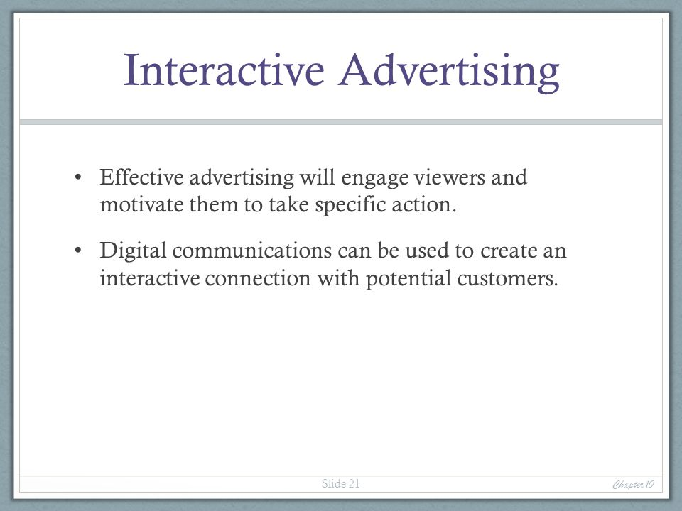 Interactive Advertising