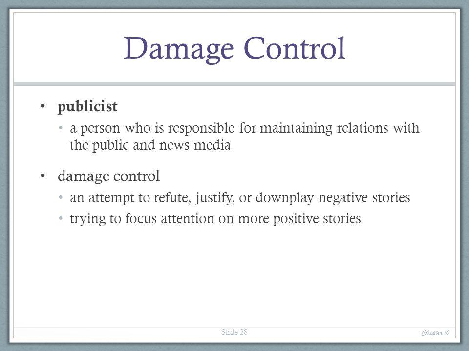 Damage Control publicist damage control