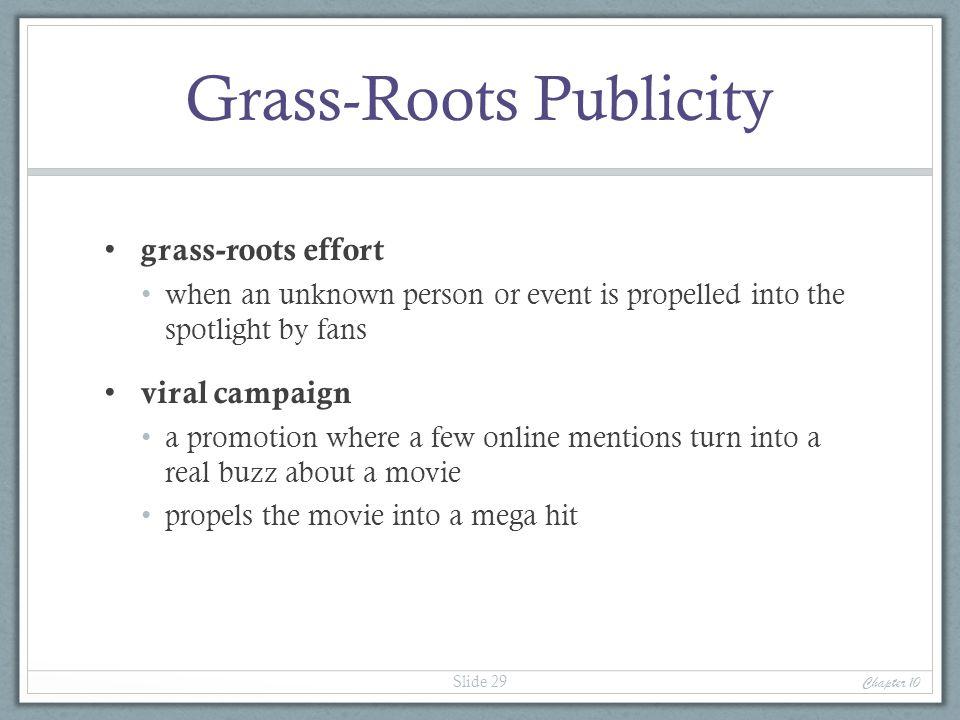 Grass-Roots Publicity