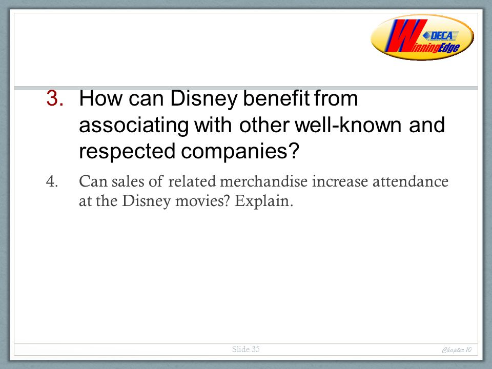 How can Disney benefit from associating with other well-known and respected companies