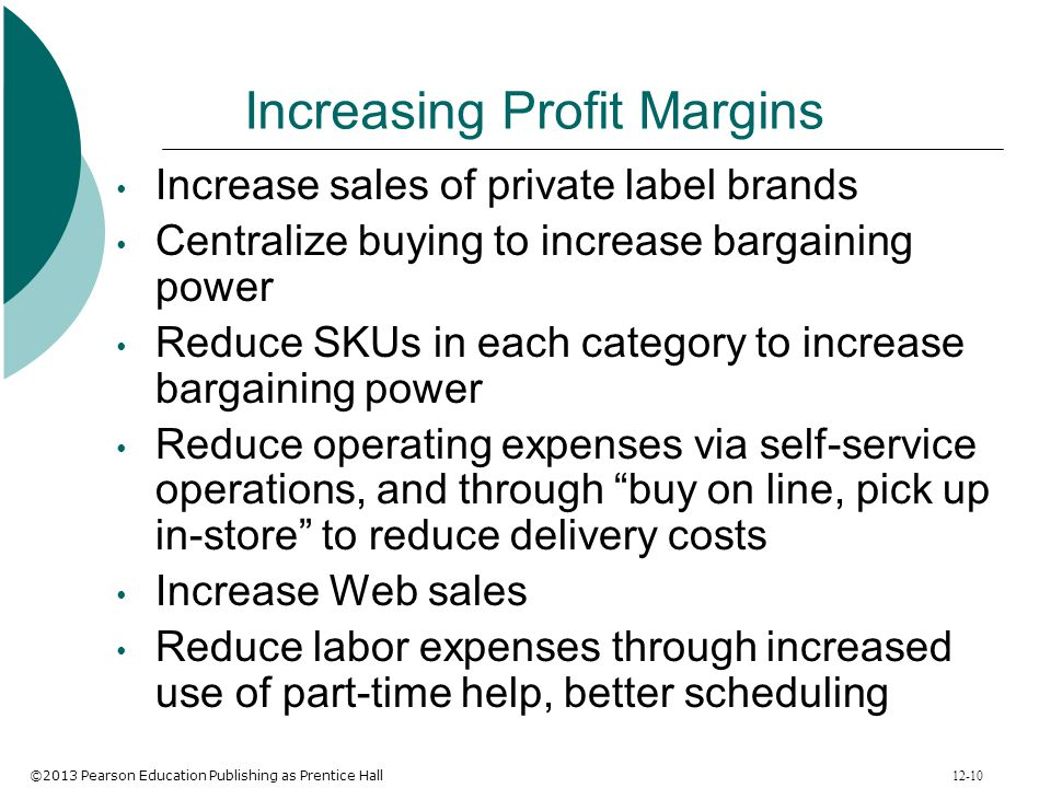 Increasing Profit Margins