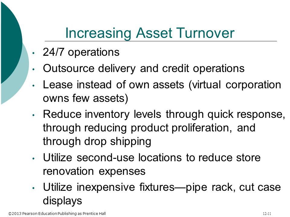 Increasing Asset Turnover