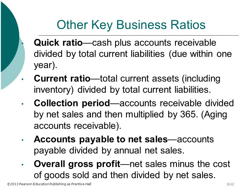 Other Key Business Ratios