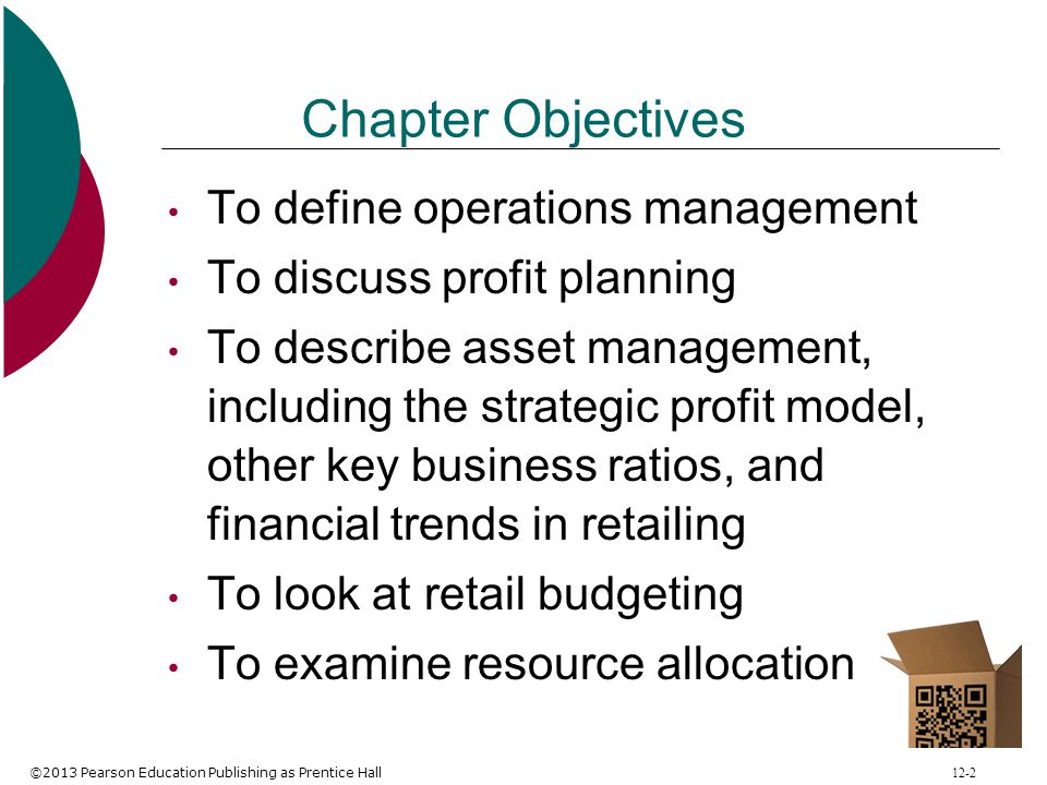 Chapter Objectives To define operations management