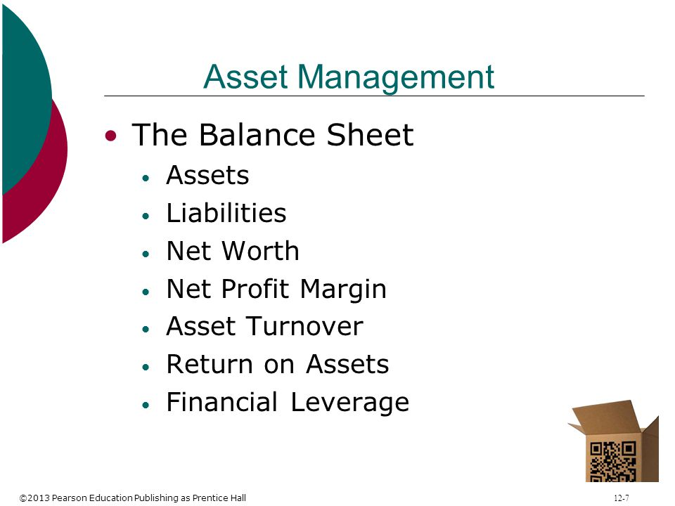 Asset Management The Balance Sheet Assets Liabilities Net Worth