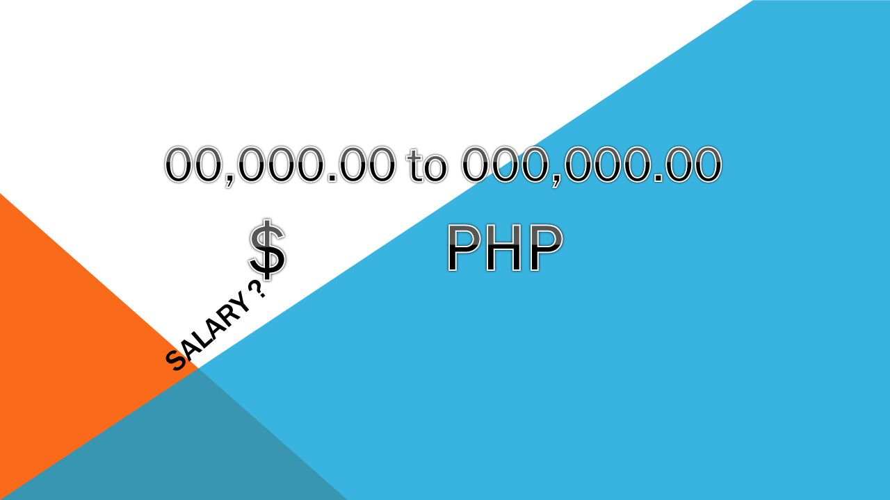 Salary 00,000.00 to 000,000.00 $ PHP