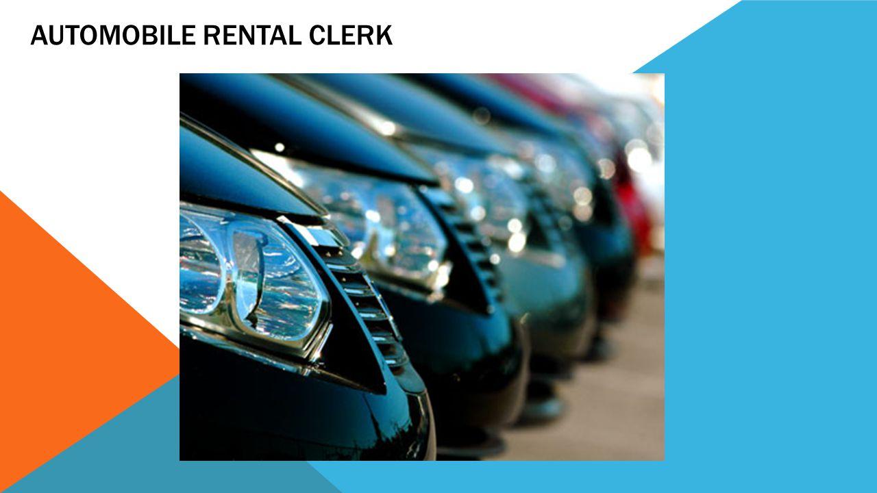 Automobile Rental Clerk
