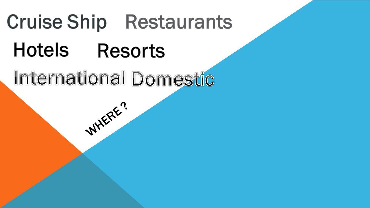 Cruise Ship Restaurants Hotels Resorts International Domestic