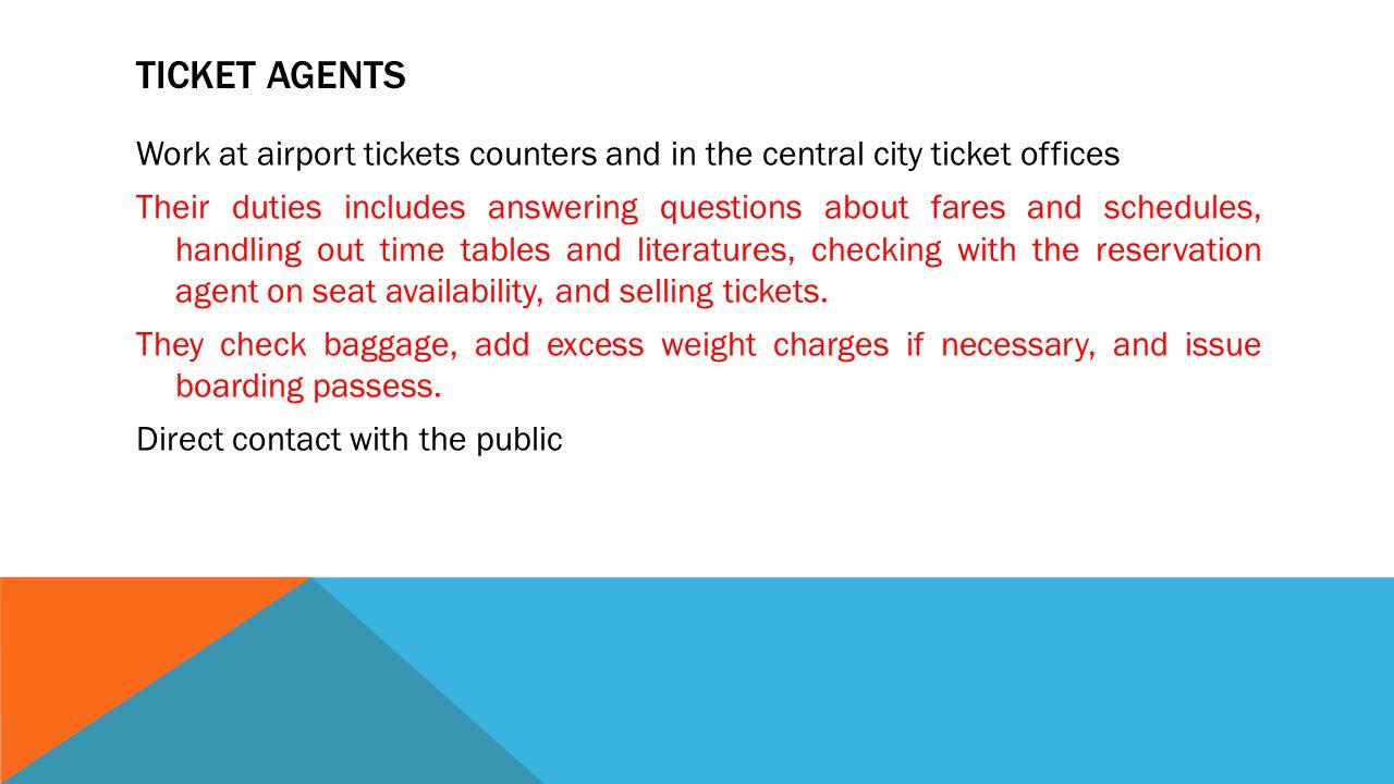 Ticket Agents