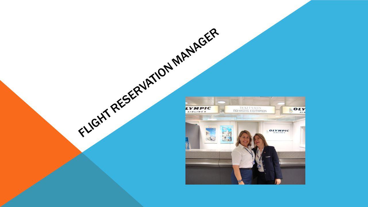 Flight Reservation Manager