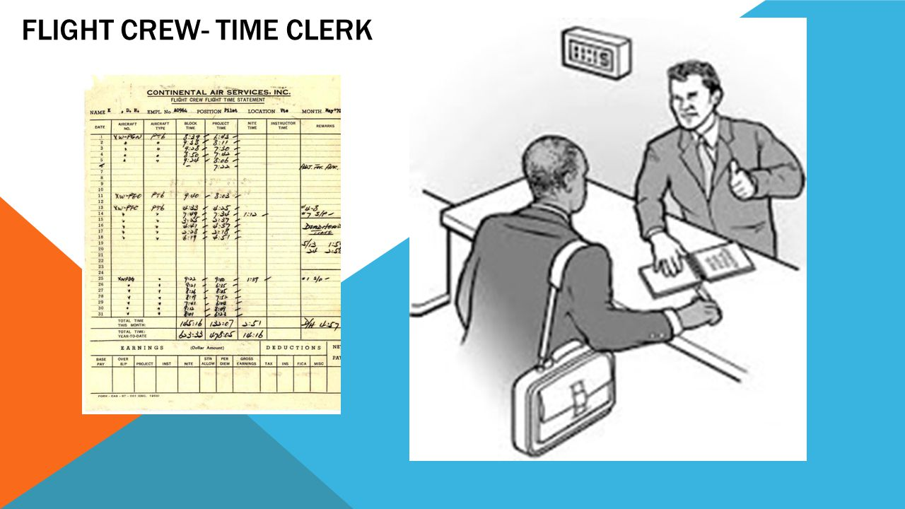 Flight Crew- Time Clerk