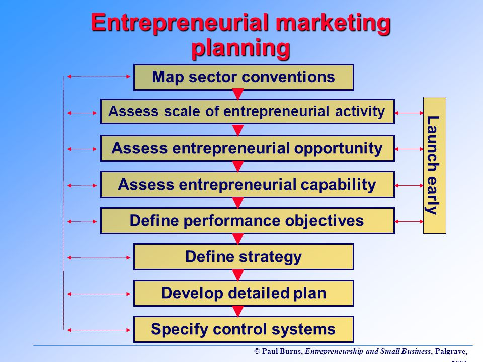 Entrepreneurial marketing planning