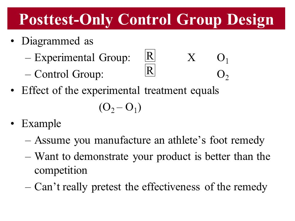 Posttest-Only Control Group Design