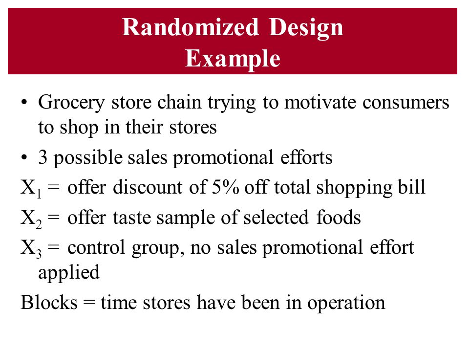 Randomized Design Example