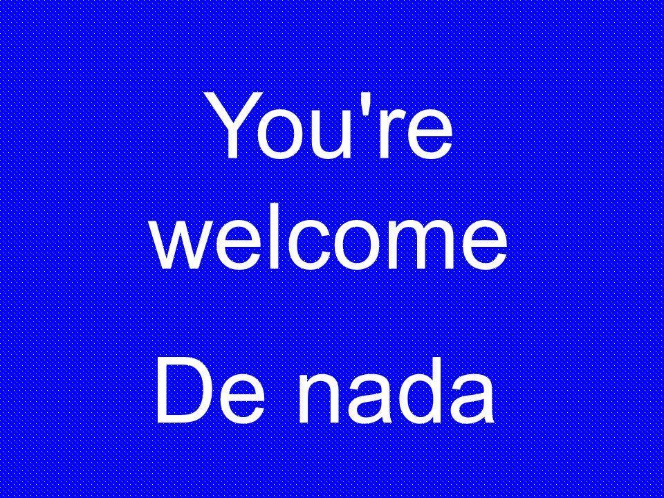 You re welcome De nada