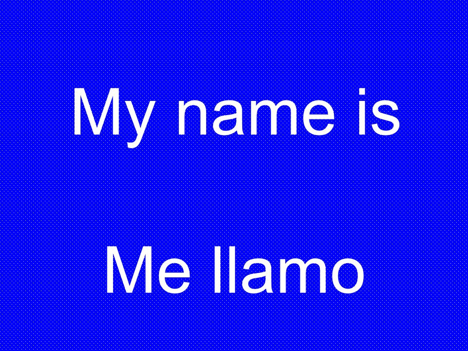 My name is Me llamo