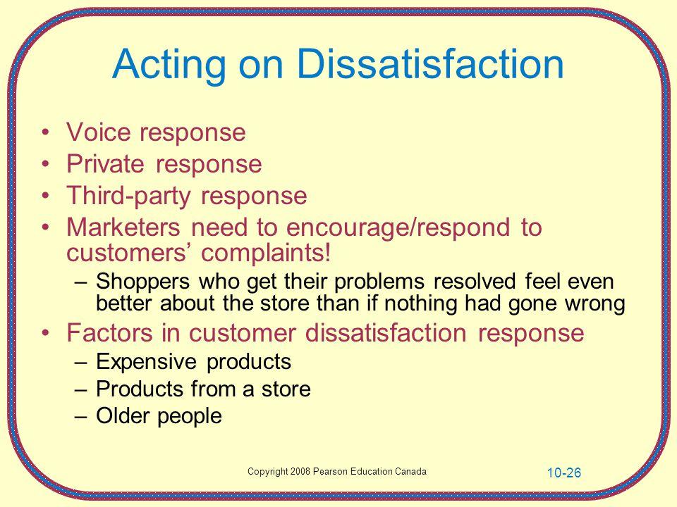 Acting on Dissatisfaction
