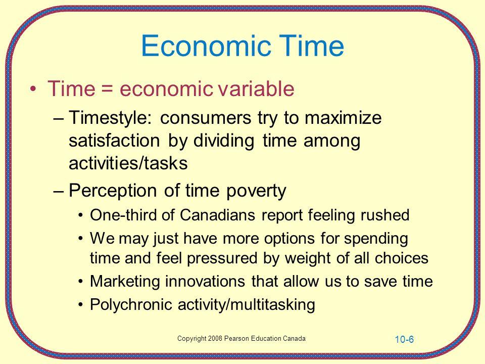 Economic Time Time = economic variable