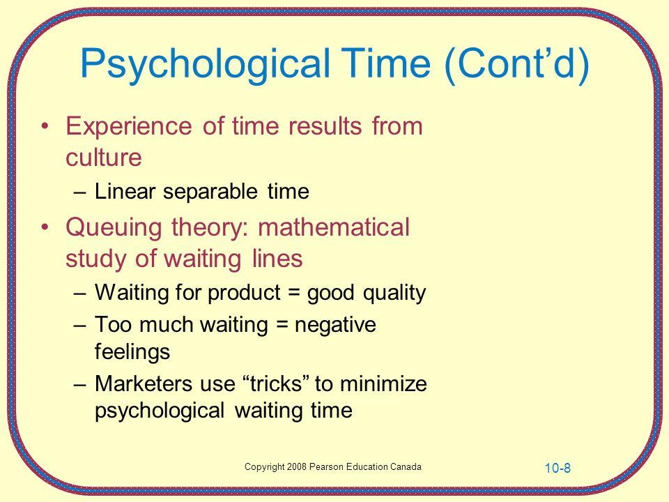 Psychological Time (Cont'd)