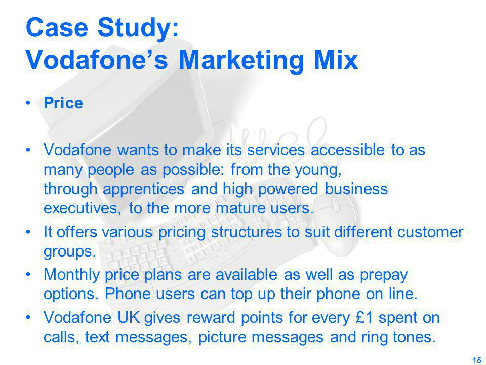Case Study: Vodafone's Marketing Mix