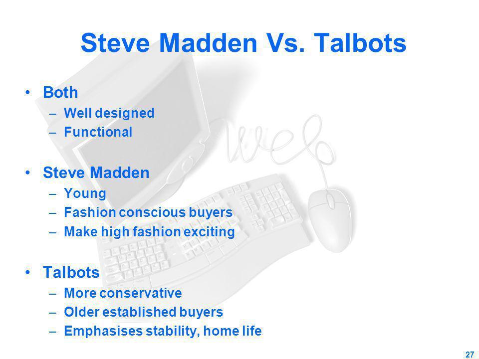 Steve Madden Vs. Talbots