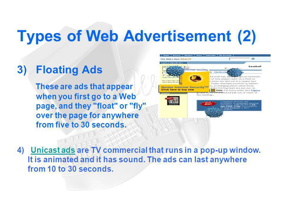 Types of Web Advertisement (2)