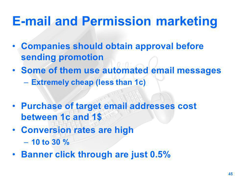 E-mail and Permission marketing