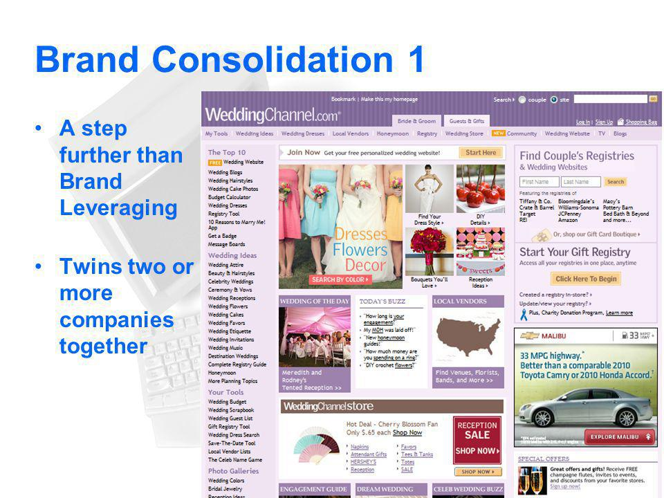 Brand Consolidation 1 A step further than Brand Leveraging