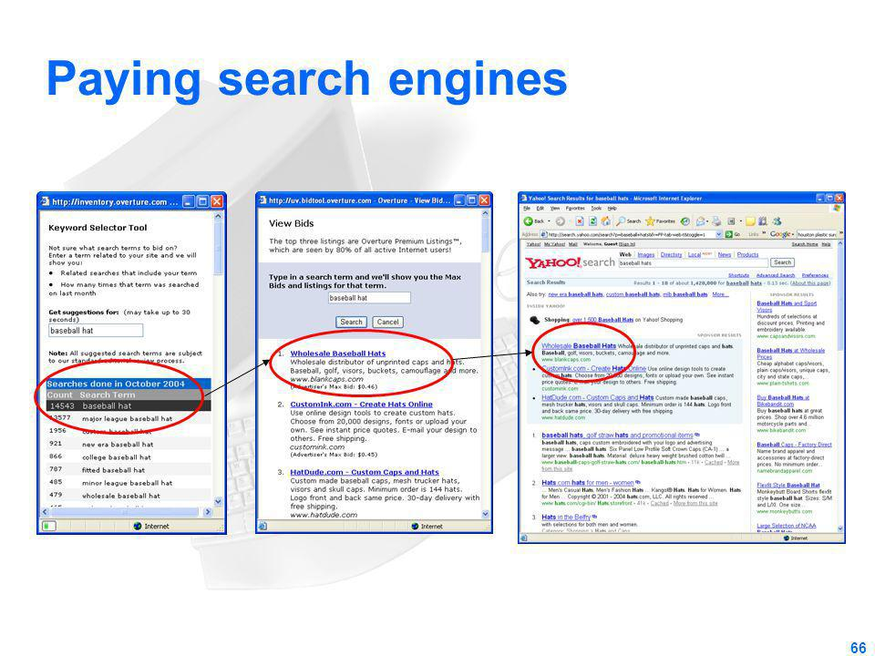 Paying search engines